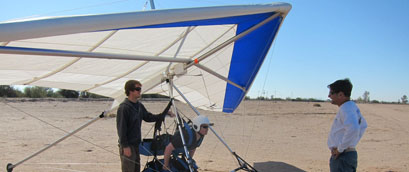 Dustin and Mark teaching on the Falcon Tandem