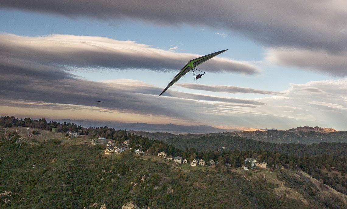Dan Tuckwiller and Alfredo Grey Fly Over Crestline California