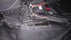 New pocket zipper is just below the leg loops