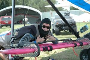Jonny boy on the winning pink cart