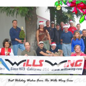 The Wills Wing Crew, 2006: Standing , Rear, l-r: Paul Diehl, Andreas Olsson, Tim Lowry, Mike Meier, Rick Zimbelman,Tom Blaty. Standing, Middle, l-r: Martin Maldonado, Eva Hanska, Gary Smith, Narcisa Hartsch, Carlos Mendosa. Seated, Front row, l-r: Linda Meier, Steven Pearson, Moises Cortes, Josh Winstead, Rob Kells. (Not pictured: Chris Wills, Peter Swanson, Bill Blaty, Ken Howells)