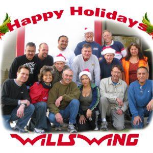 The Wills Wing Crew, 2009: Front Row, l-r: Tom Blaty, Linda Meier, Bill Blaty, Narcisa Romo, Peter Swanson, Martin Maldonado 2nd Row, l-r: Carlos Mendosa, Roger Filian, Steven Pearson, Paul Diehl, Gary Smith, Eva Hanska 3rd Row, l-r: Anthony Faletoi, Rick Zimbelman, Mike Meier (Not pictured: Chris Wills, Ken Howells)